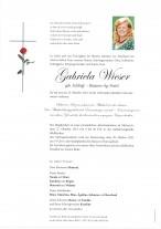Gabriela Wieser, gestorben am 22.10.2021