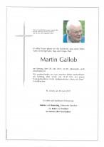 Martin Gallob, gestorben am 28.06.2021