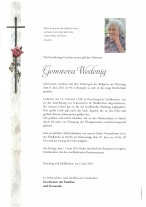 Genoveva Wedenig, gestorben am 08.06.2021
