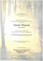 Gerda Wresnik, 16.10.2019