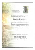 Gerhard Edmund Dreschl, gestorben am 20.04.2021