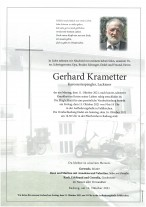 Gerhard Krametter, gestorben am 11.10.2021