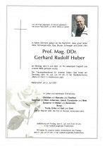 Gerhrad Rudolf Huber, gestorben am 05.07.2021