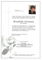 Brunhilde Germann, gestorben am 20.09.2020