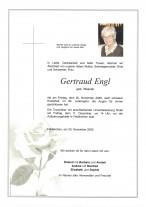 Gertraud Engl, gestorben 20.11.2020,