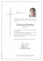 Gertraud Weber, gestorben am 18.06.2021