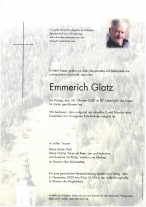 Emmerich Glatz, gestorben am 30.10.2020