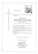 OAR Johannes Golznig, gestorben am 08.10.2020
