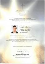 Gottfrieda Prodinger gestorben am 16.12.2020