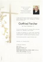 Gottfried Fercher, gestorben am 23.11.2020