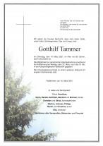 Gotthilf Tammer, gestorben am 16.03.2021