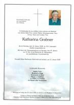 Katharina Grabner, gestorben am 12.01.2020
