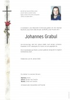 Johannes Grabul, gestorben am 30.01.2020