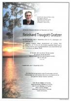Reinhard Traugott Gratzer, gestorben am 07.12.2019