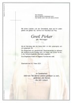 Erna Margarethe Pirker, gestorben am 16.02.2021