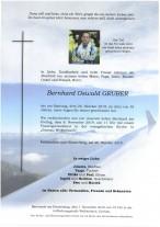 Bernhard Oswald Gruber, verstorben am 26.10.2019