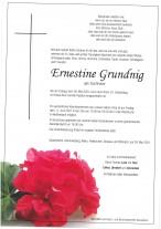 Ernestine Grundnig,gestorben am 28.05.2021