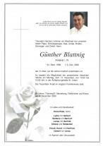 Günther Blattnig, gestorben am 09.12.2020