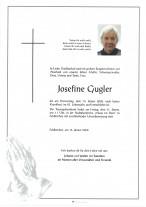 Josefine Gugler. gestorben am 16.01.2020