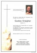 Gustav Kraigher, gestorben am 27.12.2020
