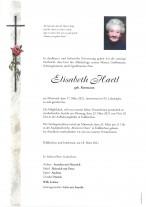 Elisabeth Hartl, gestorben am 17.03.2021