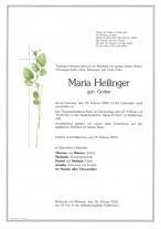 Maria Heilinger, gestorben am 23.02.2020
