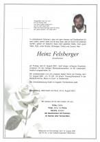 Heinz Felsberger, gestorben am 06.08.2021