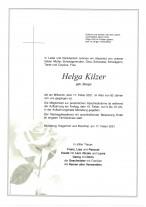 Helga Kilzer, gestorben am 17.02.2021