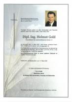 Dipl.Ing.Helmut Gold, gestorben am 14.03.2021