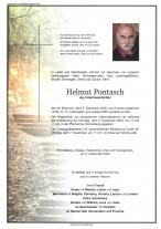 Helmut Pontasch, gestorben am 02.12.2020
