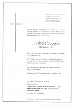 Herbert Suppik gestorben am 09.12.2020