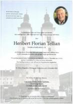 Heribert Florian Tellian, gestorben am 06.11.2020