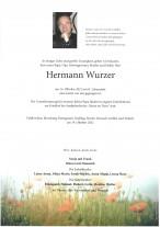 Hermann Wurzer, gestorben am 14.10.2021