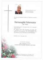 Hermenegilde Hohenwarter geb. Holzer, gestorben am 02.12.2019