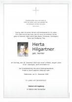 Herta Hilgartner, gestorben am 20.12.2020