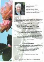 Hertha Maria Pirker, gestorben am 06.07.2021