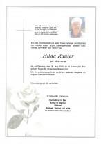Hilda Rauter, gestorben am 30.06.2020