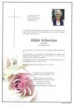 Hilde Schurian, gestorben am 13.06.2021