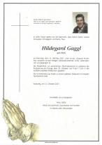 Hildegard Gaggl, gestorben am 12.10.2021