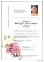 Hildegard Kernberger, gestorben am 13.09.2021