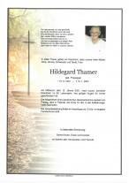 Hildegard Thamer, gestorben am 13.01.2021