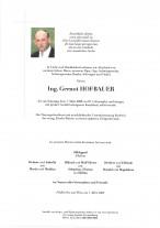 Ing. Gernot Hofbauer, gestorben am 07.03.2020
