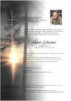 Horst Schreiner, gestorben am 17.09.2021