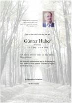 Günter Huber, gestorben am 18.08.2020