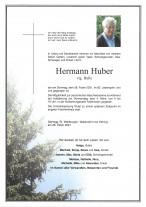 Hermann Huber, gestorben am 28.02.2021