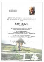 Otto Huber, gestorben am 29.09.2021