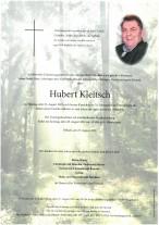 Hubert Kleitsch, gestorben am 23.08.2021