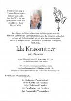 Ida Krassnitzer, gestorben am 29.09.2021