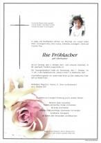 Ilse Fröhlacher, gestorben am 02.10.2021