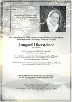 Irmgard Obersteiner, gestorben am 15.09.2021
